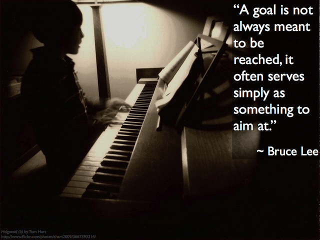 Bruce Lee on purpose of setting a goal