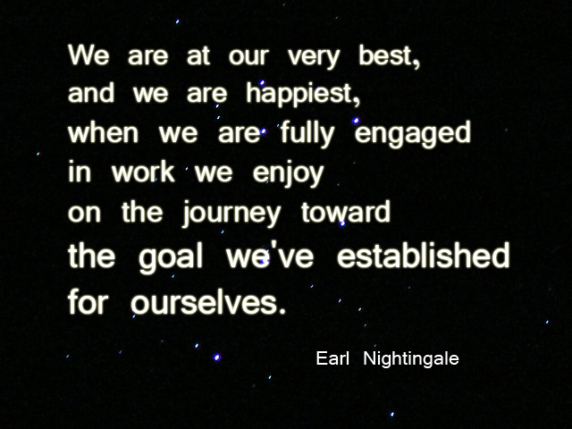 Earl Nightingale quote about goals