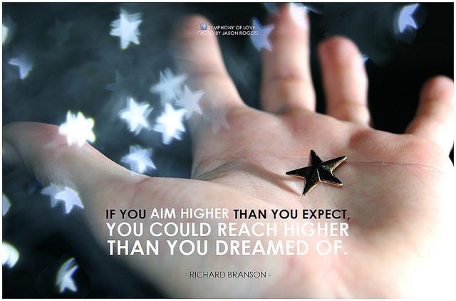 Richard Branson on aiming high