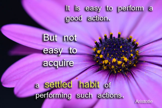 Aristotle on habits