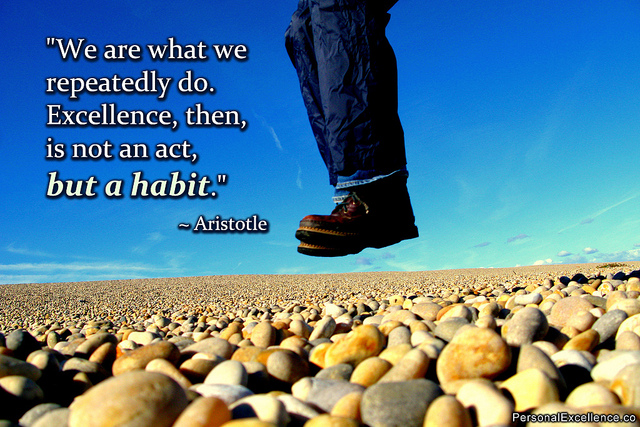 Aristotle quote about habits