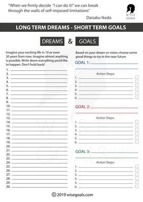 Breathtaking image pertaining to printable goal sheets pdf