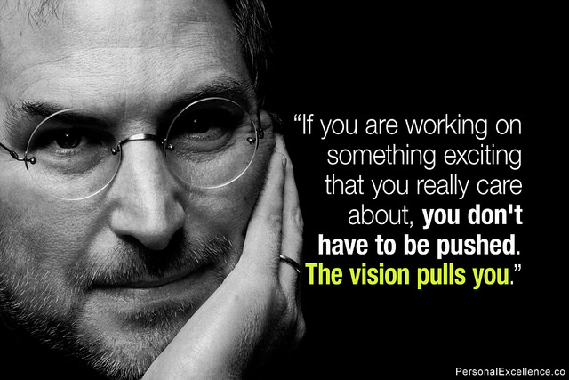 Steve Jobs quote about having a vision