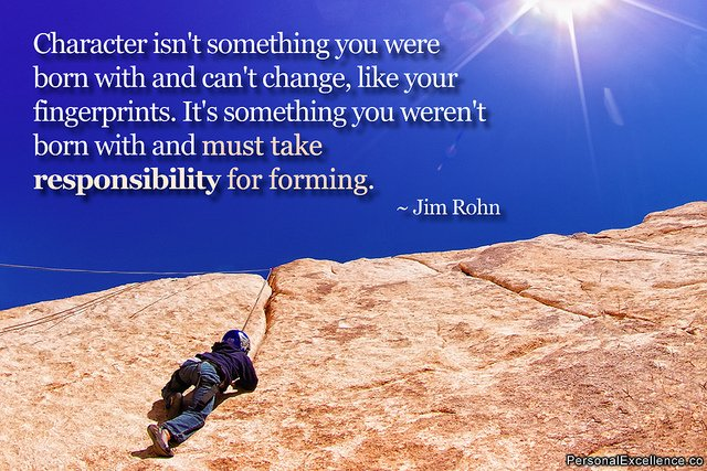 Jim Rohn quote about character