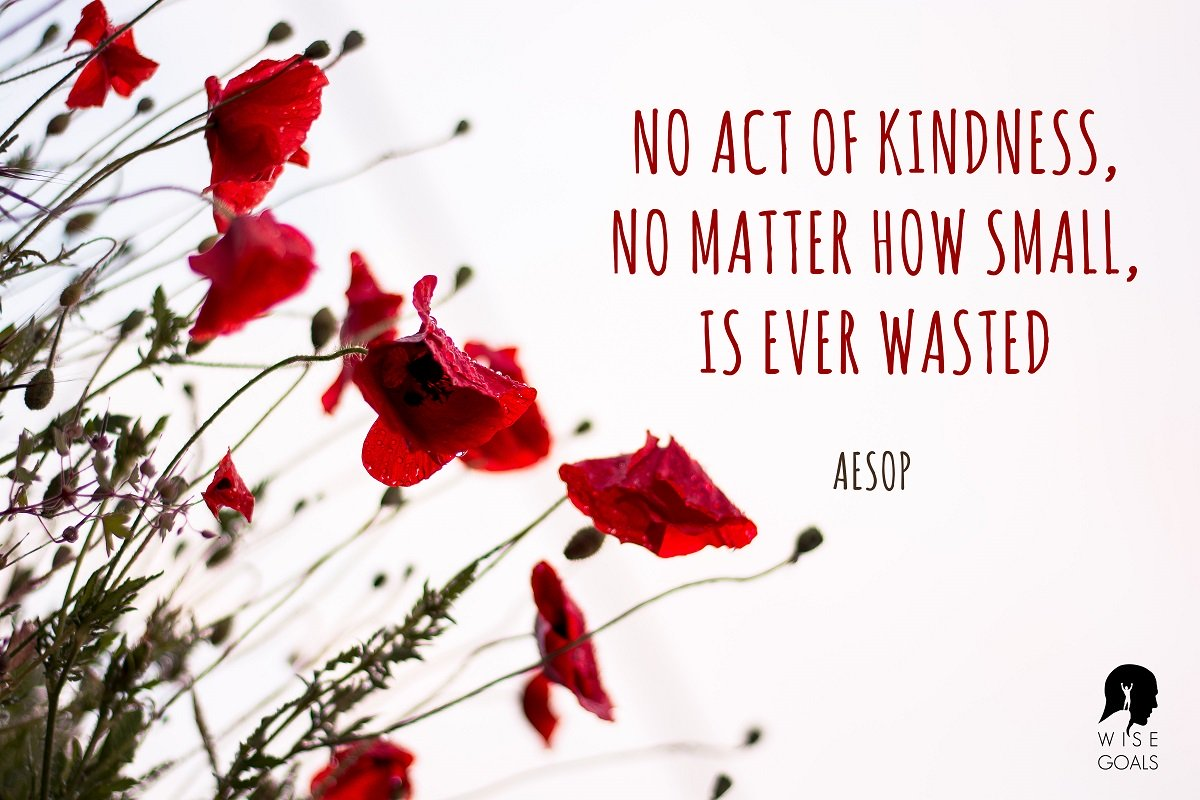 Aesop quote about kindness