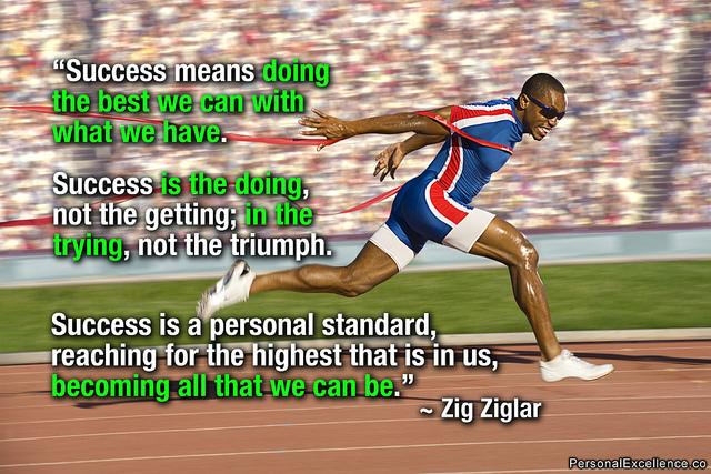 Zig Ziglar quote about success